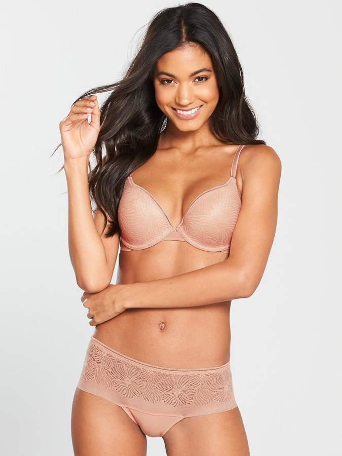 Wonderbra Fabulous Feel T-Shirt Bra - Pink