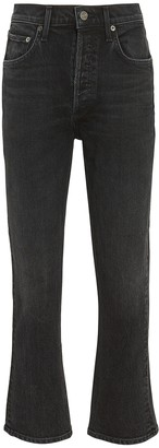 AGOLDE Riley High-Rise Straight Cropped Jeans