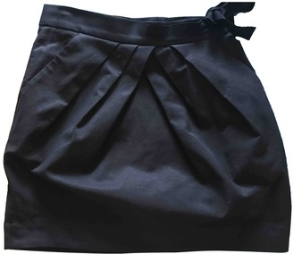 Jaeger Black Cotton Skirt for Women