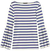 Banana Republic Stripe SUPIMA® Cotton Bell-Sleeve Top