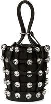 Alexander Wang Black Crystal Roxy Mini Bucket Bag