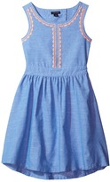 Tommy Hilfiger Chambray Embroidered Dress Girl's Dress