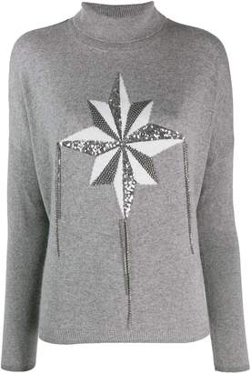 Liu Jo wind rose intarsia jumper