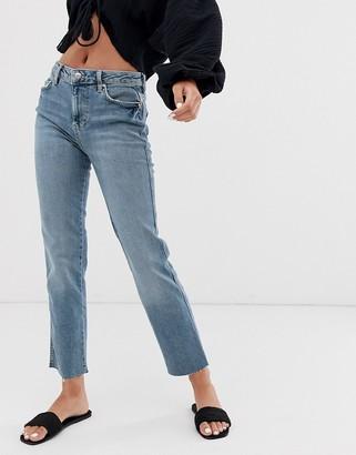 Free People Clean girlfriend jeans