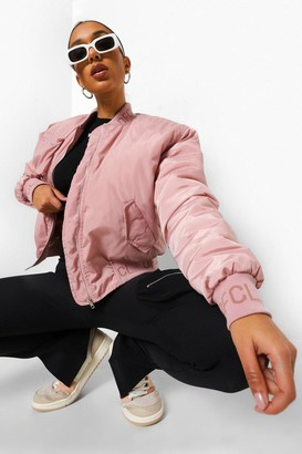boohoo Oversized Utility Bomber With Zip Detail