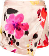 Topshop Multi Blurry Floral Skort