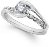 Sirena Diamond Cluster Engagement Ring in 14k White Gold (1/2 ct. t.w.)