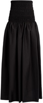 The Row Cial cotton-blend poplin maxi skirt