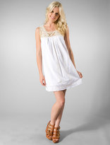 Lovestruck Babydoll Dress in White/Nat.