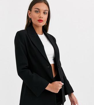 Asos DESIGN Petite pop suit blazer in black