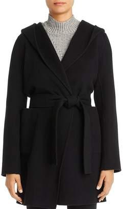 Elie Tahari Shea Hooded Wool-Blend Wrap Coat