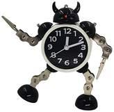 Kaimao Metal Robot Alarm Clock / Kids Alarm Clock Robot Wake-up Clock with Flashing Eye Lights