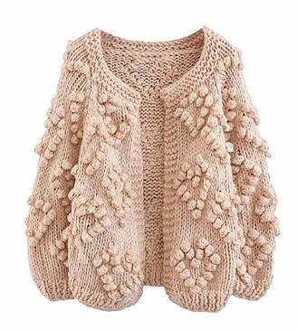 Goodnight Macaroon 'Kelli' Pom Pom Chunky Knit Open Cardigan (3 Colors)