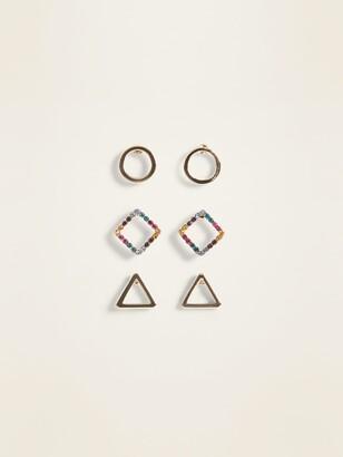 Old Navy Geometric Stud Earring 3-Pack for Women