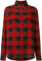 Saint Laurent classic checked shirt - women - Cotton - S