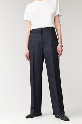 Cos Straight Wool-Cashmere Pants