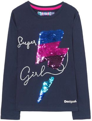 Desigual Girl's TS_HAMILTON Long Sleeve Top