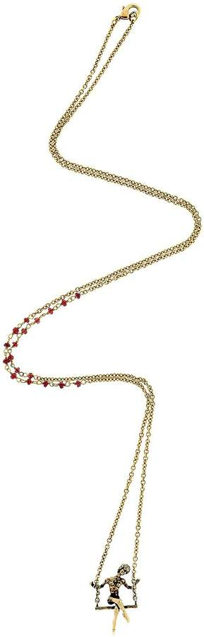 Alcozer & J L'altalena Necklace With Garnets