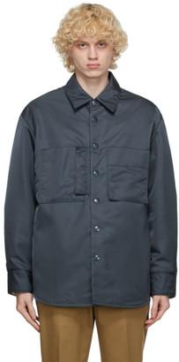 Solid Homme Navy Nylon Shirt
