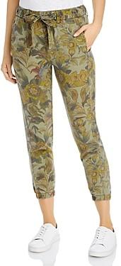 Pam & Gela Floral-Print Belted Pants
