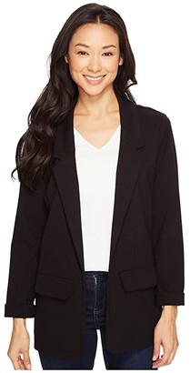 Liverpool Boyfriend Blazer Ponte Knit (Black) Women's Jacket