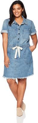 Lucky Brand Women's Plus Size Drawstring Dress