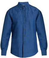 Brunello Cucinelli Slim-fit Linen And Cotton-blend Chambray Shirt