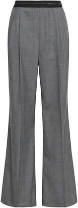 Prada Prince Of Wales Checked Wool Wide-leg Pants