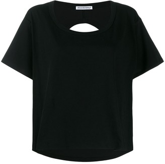 T By Alexander Wang cropped cut-out back T-shirt