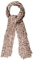 Yigal Azrouel Leopard Print Scarf