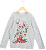 Stella McCartney Girls' Strawberry Print Knit Sweater
