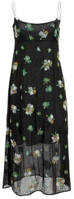 Marc Jacobs Redux Grunge Floral Chiffon Silk Midi Slip Dress