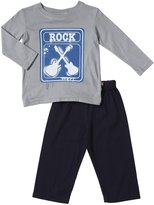 City Threads Rock Sign Graphic Tee Set (Baby) - Road/Navy-3-6 Months