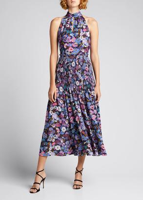 Tanya Taylor Nicolette Drop Waist Midi Skirt