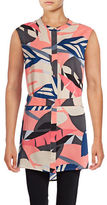 Vince Camuto Modern Tropic Button-Front Tunic