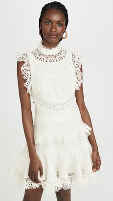 Zimmermann Peggy Embroidered Trim Short Dress