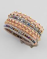 Nakamol Two-Tone Multi-Bead Wrap Bracelet, Gold/Gray