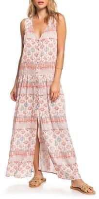 Roxy Feel Like Summer Stripe Maxi Dress