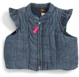 Tea Collection Infant Girl's Citizen Chambray Vest