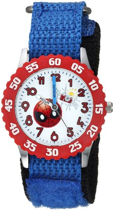 Marvel Boys Emoji Stainless Steel Analog-Quartz Watch with Nylon Strap