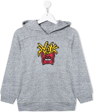 Mostly Heard Rarely Seen 8 Bit fries print cotton hoodie