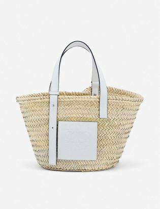 Loewe Basket woven raffia bag