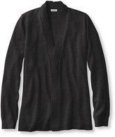 L.L. Bean Premium Supima Cotton Sweater, Textured Open Cardigan