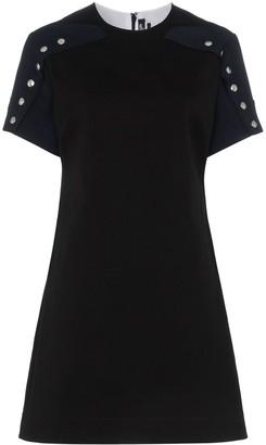 Calvin Klein Popper Sleeve Cotton Dress