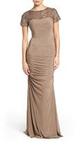 La Femme Women's Embellished Lace & Jersey Gown