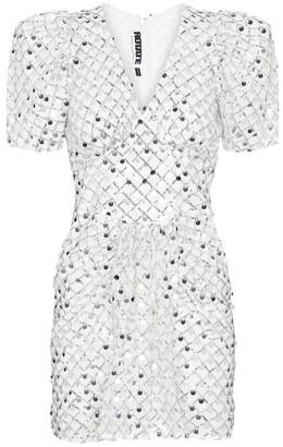 Rotate by Birger Christensen Alma metallic midi dress