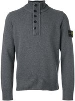 Stone Island zipped buttoned pullover
