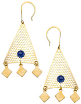 Lapis Blydesign Gold And Triangle Chandelier Earrings