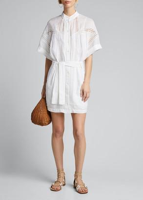 Frame Twisted Pleat Ramie Dress