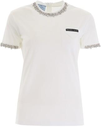 Prada T-shirt With Crystals
